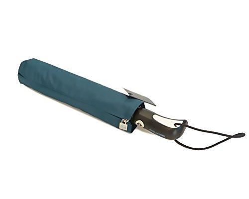 Ombrello Pieghevole Automatico Apri e Chiudi Super Antivento Gigante Piquadro Colore Petrolio