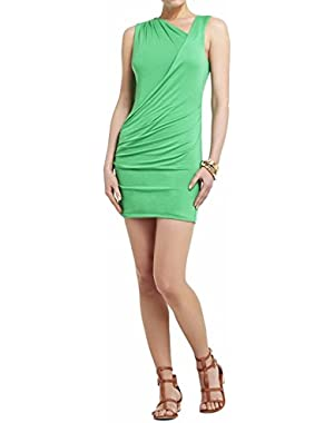 BCBG Max Azria Womens Medium Petite Bodycon Dress Green PM