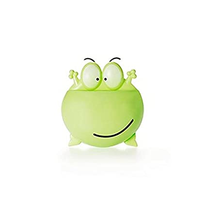 Wenquan,Cepillo de Dientes Titular Rana de Dibujos Animados(Color:Verde)