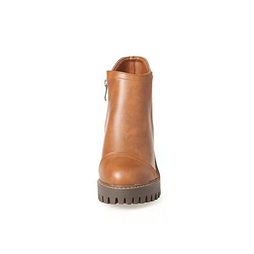 BalaMasa Womens Platform Slip-Resistant Casual Urethane Boots ABL10144 Yellow vSyZgW1