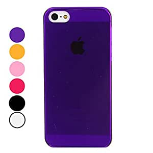 Solid Color Hard Case for iPhone 5/5S (Assorted Colors) --- COLOR:Pink