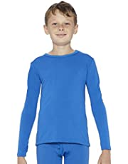 ROCKY Boy's Fleece Lined Thermal Long Sleeve Top Crewneck Underwear Base Layer T-Shirt