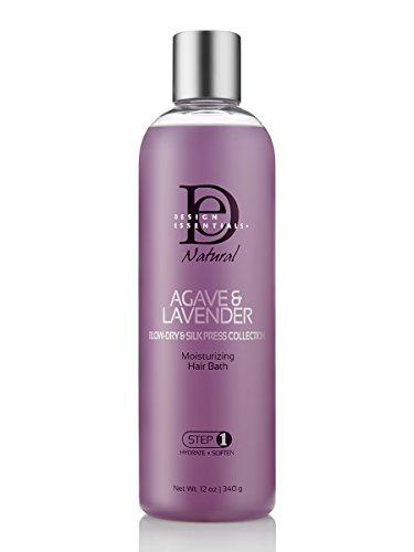Design Essentials Agave & Lavender Moisturizing Hair Bath - Blow-Dry & Silk Press Collection - 12 Oz