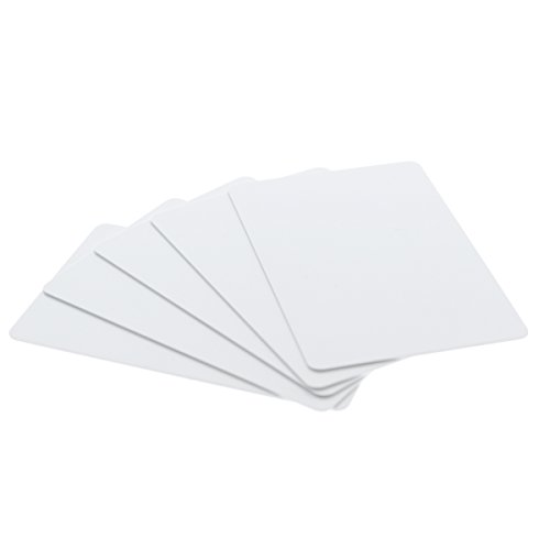 100 Pack - Premium Blank PVC Cards for ID Badge Printers - Graphic Quality White Plastic CR80 30 Mil (CR8030) By Specialist ID - Compatible with Most Photo ID Badge (Blank White Pvc Cards)