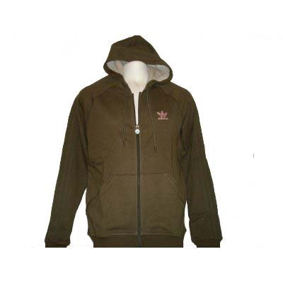 Adidas D- Premium Basic Full-Zip Hoody (Medium, Woodmelan / - Rush Zip Full Hoody