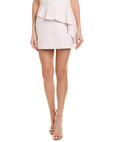 MILLY Womens Cascade Ruffle Mini Skirt, 2, Pink