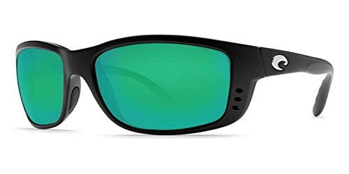 Costa Del Mar Zane Sunglasses, Matte Black / Green Mirror ()
