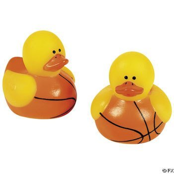 24-pc Mini Basketball Rubber Ducky Party -