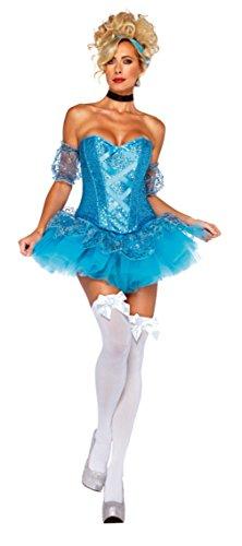 Leg Avenue Womens Storybook Sassy Cinderella Tutu Theme Party Halloween Costume, S (4-6)