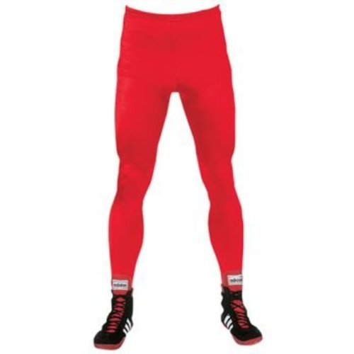Brute Lycra Tights W/Stirrups - SIZE: Youth Medium, COLOR: Red by Brute
