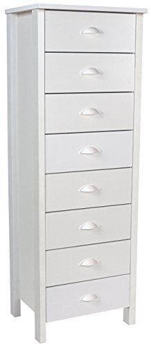 - Venture Horizon 8 Drawer Lingerie Bureau White