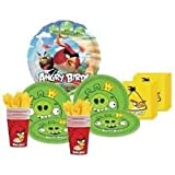 Angry Birds Party Supplies Pack for 16 Guests Includes Plates, Cups, Napkins and Metallic Foil Balloon, Health Care Stuffs