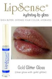 LipSense 3 Lip Gloss Gold Pink and Silver Glitter Gloss