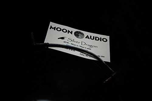 Moon Audio Silver Dragon v3 3.5mm to 3.5mm replacement upgrade cable for Headphone amplifer (Ultrasone Headphone Silver)