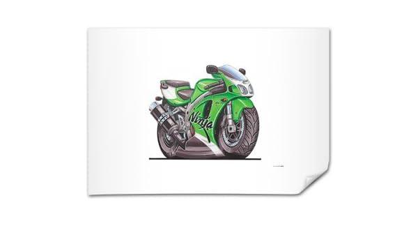 Kawasaki ZX7R Ninja Motorbike Bike Caricature Illustration ...