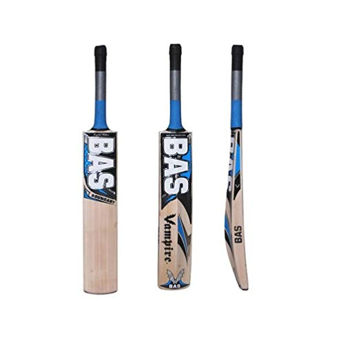 C&W BAS English Willow Cricket Bat Extra Power Hitter Vampire Boundary Full Size Short Handle World Wide +(Cover Padded