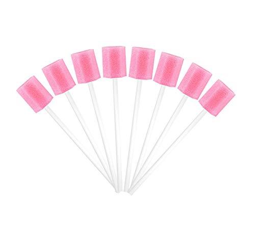 Easyinsmile Disposable Oral Care Sponge Swab/Tooth Cleaning Spong Swab (50pcs) (Pink)