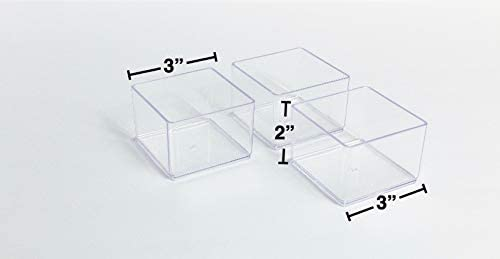 6 pièces en plastique transparent pour tiroir et meuble de rangement
