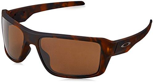 Oakley Men's Double Edge 0OO9380 Polarized Iridium Rectangular Sunglasses, MATTE TORTOISE, 66 - Oakley Lens Double Sunglasses