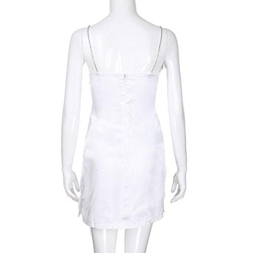 d5bd914ce22 ... Janly Uni Kleid für Frau Sexy Sling Mini Kleid Damen Off Schulter Hoch  Split Sommer Kleider ...