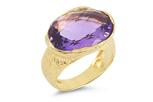 I REISS 14K Yellow Gold 10.5ct TGW Amethyst Ring