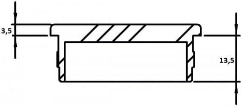 f/ür Rohr /ø 48,3 x 2,0mm zum Einschlagen V4A Endkappe flach hohl