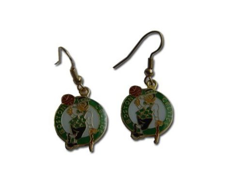 aminco Boston Celtics Dangle Logo Earring Set Nba Charm Gift