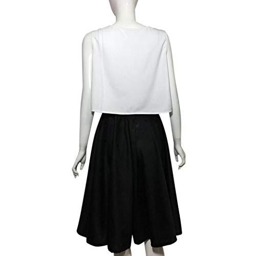 Evase Patineuse A Jupe Jupe Noir Sixcup Taille Vintage Haute Rtro Court de Femmes Ligne De Midi Pure Elastique Couleur Plisse P4qPIYgw