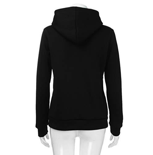 Coat Zip Casual Womens Jumper Sweatershirt Black Autumn Up Sports TUDUZ Pullover Hoody Warm Hoodies Clearance Hooded Jacket q7wAISw