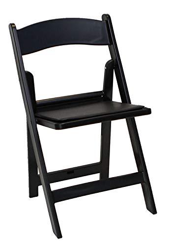 Black Resin Folding Chair - 3