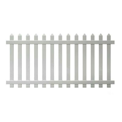 4 ft. x 8 ft. Glendale Spaced Picket Vinyl Fence Panel with Pointed Pickets