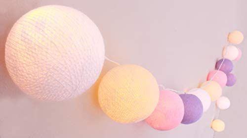 CREATIVECOTTON Cadena de luces LED Sinfonía con 20 bolas de ...