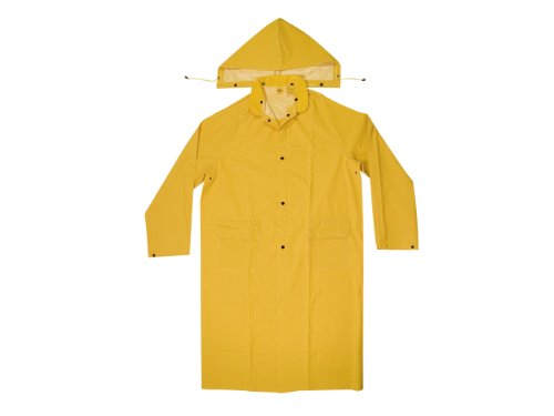 Price comparison product image CLC Custom Leathercraft Rain Wear R105L .35 MM PVC Trench Coat - Large