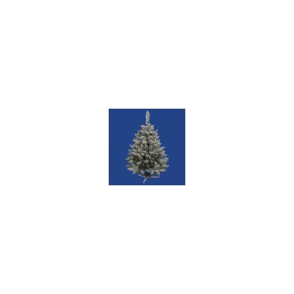 3 Pre Lit Flocked Sugar Pine Artificial Christmas Tree   Clear Lights
