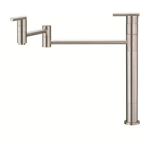 Danze D206558SS Parma Single Handle Deck Mount Pot Filler, Stainless Steel (Renewed) ()