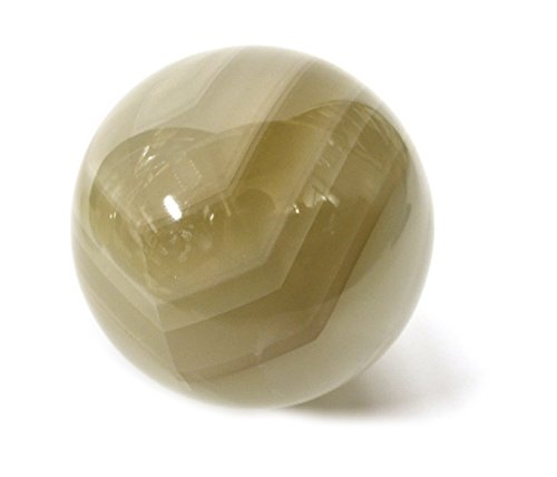 Stone Carved Sphere (Earthen Gray Stone Crystal Aura Sphere, 4