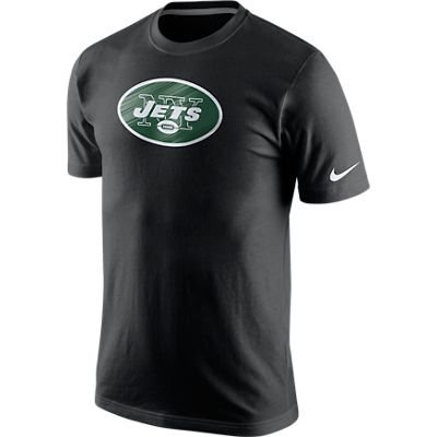 Men's Nike New York Jets Fast Logo Tee Black Size - Embossed Nike T-shirt