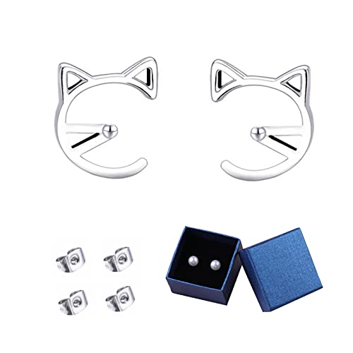 925 Siliver Cat Earrings Earrings Sterling Silver Stud Earrings for Women Gift