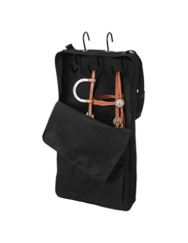 Tough 1 Tough-1 Bridle/Halter with 3 Prong Tack Rack, (Nylon Bridle Bag)