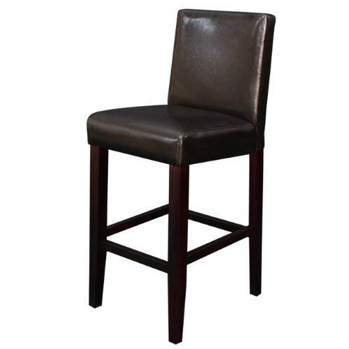 Monsoon Pacific Villa Faux Leather Counter Stool, Brown, Set of 2