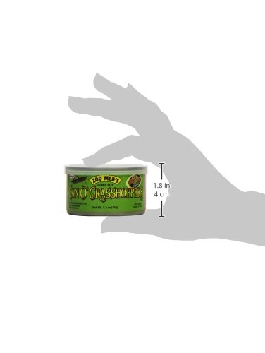 Image of Zoo Med Laboratories SZMZM44 Can O Grasshoppers, 1.2-Ounce