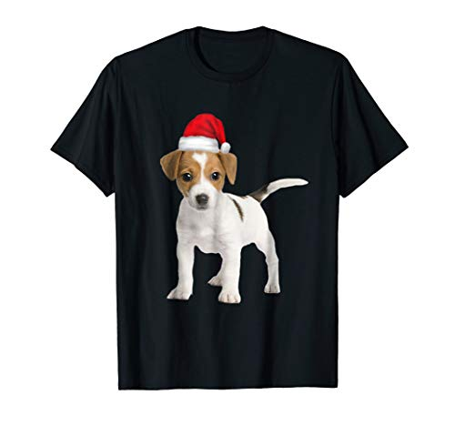 Russell Clubs Jack Terrier - Cute Jack Russell Terrier Puppy in Santa Hat Shirt