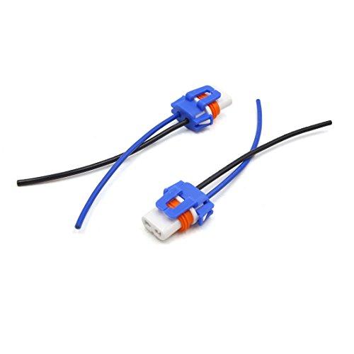 uxcell 2pcs 9005 Ceramic Car Lamp Light Holder Wiring Harness Socket Foglight Connector