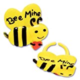 valentine s day decorating ideas 12 Bee Mine Bumble Bee Cupcake Rings Cake Toppers Valentines Day