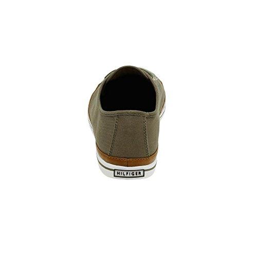 Tommy Hilfiger Dame K1285eira Hg 1d1 Sneakers Khaki CxBUnJ1P