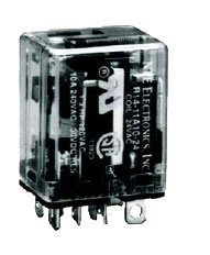 (NTE Electronics R14-11D10-24 Series R14 General Purpose DC Relay, DPDT Contact Arrangement, 10 Amp, 24 VDC)