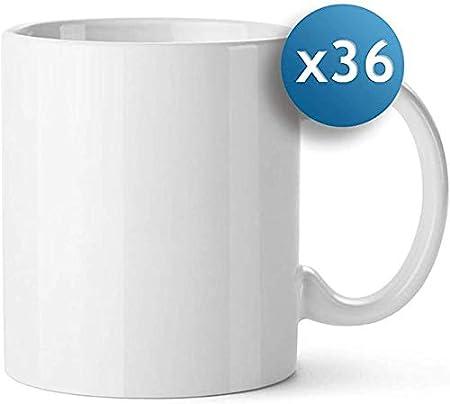 Sublimet Sublimation Solutions Pack 36 Tazas de cerámica blancaa ...