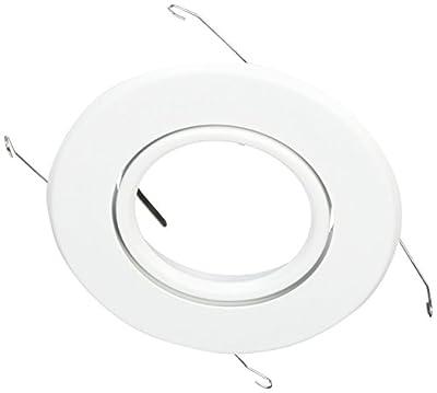 NICOR Lighting 15558WH Gimbal Ring Trim, 5-Inch, White