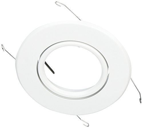 NICOR Lighting 5-Inch Non-IC Rated Gimbal Ring Trim for 15000 and 15000R, White (15558WH)