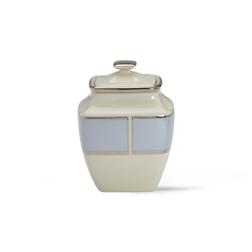 Lenox Blue Frost Platinum Banded Ivory China Square Sugar Bowl by Lenox